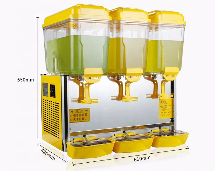4 Tanks Elektrische Koude Drank Juicer Dispenser Machine
