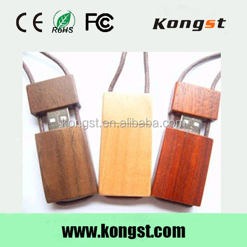 Wooden USB Flash Drive in USB 2.0. Provide Logo Print, Data Load, Capacity from 32M to 64GB