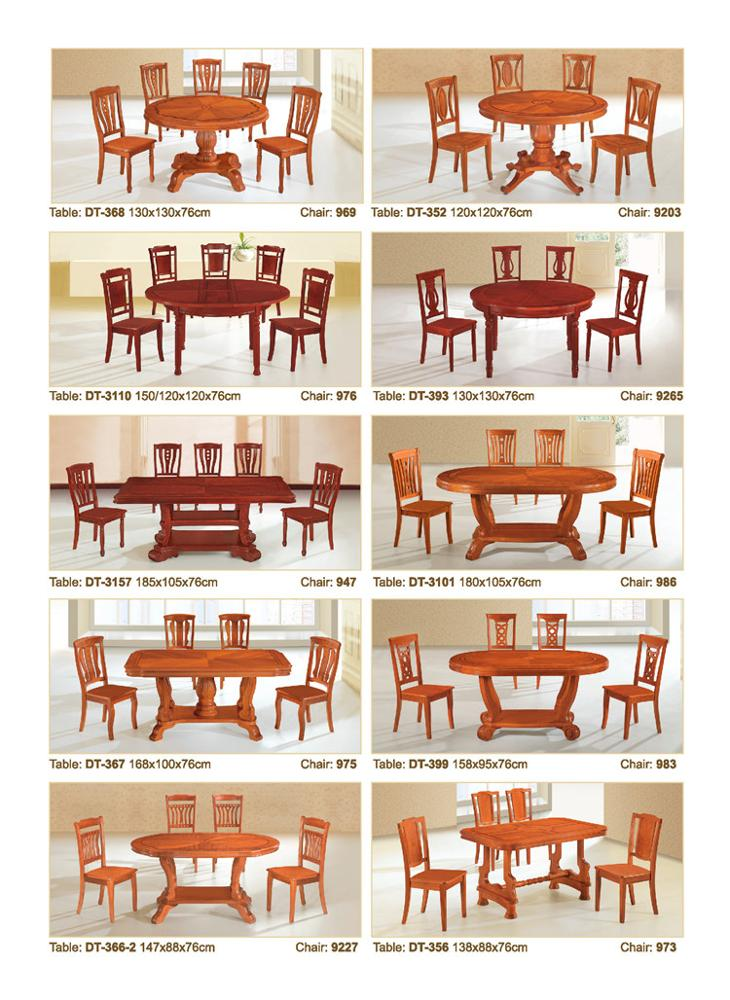Master Design Wooden Dining Room Furniture Made In China
