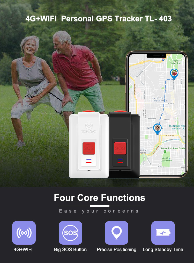 Factory Price 4G LTE CAT-M1 Elderly GPS Tracking Device Personal GPS Locators 4G GPS Tracker Waterproof IP67