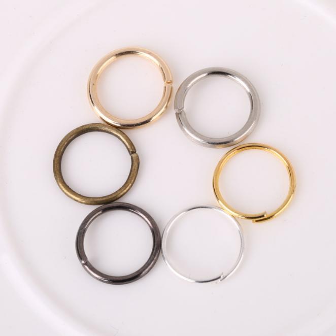 Vente en gros 6 couleurs bricolage bijoux trouvailles accessoire métal anneau de saut ouvert