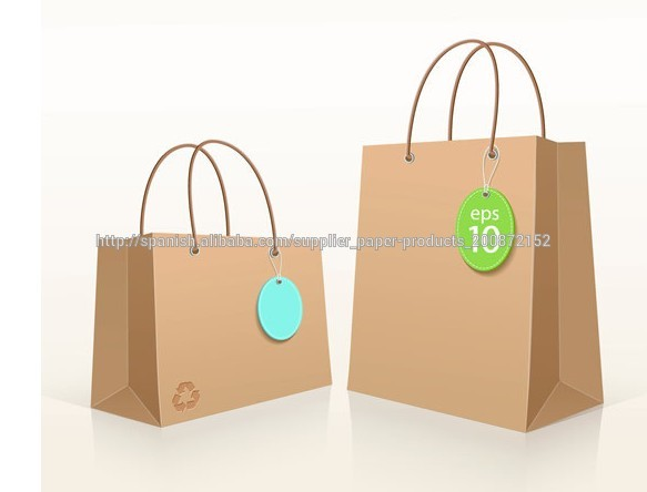 29af71d21e5 marrón reciclable bolsa de papel kraft con papel giro maneja paño para ir de  compras
