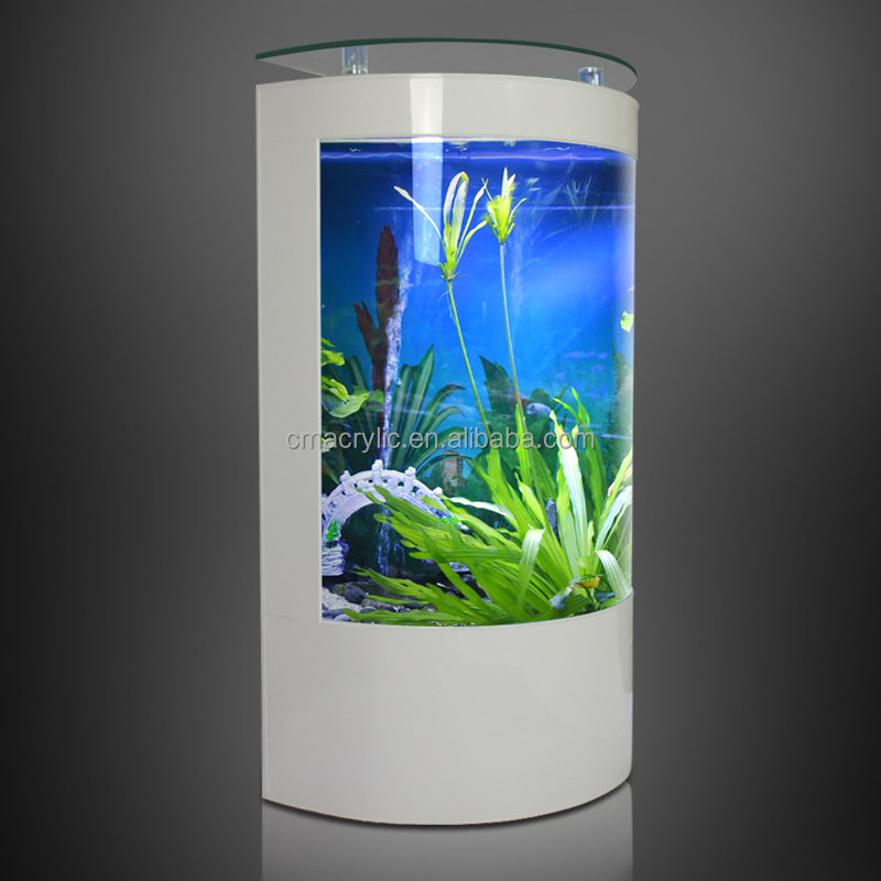 Hot selling classic large acrylic half round aquarium