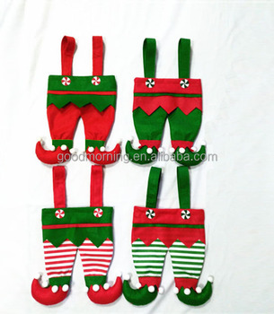 fb00139f3 Personalized Adorable Elf Pant Christmas Stockings Santa Pants Gift Bags