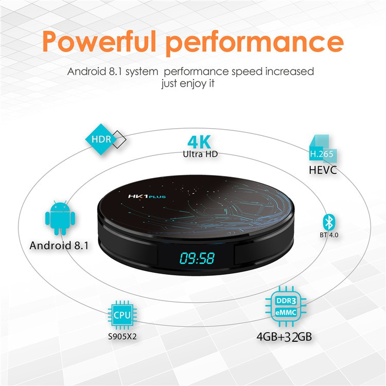 Best android tv box HK1 PLUS S905X2 box android google tv box android arabic iptv with high quality and best price
