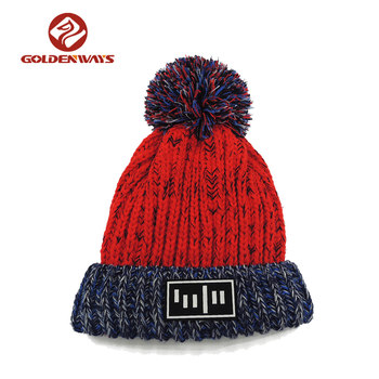 463c1330d81 Custom Design your own logo warm beanies young girl winter knit hat