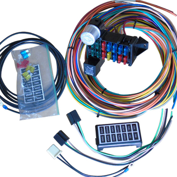 car wiring harness kits 14 circuit automotive wiring kits classic universal racing auto  14 circuit automotive wiring kits