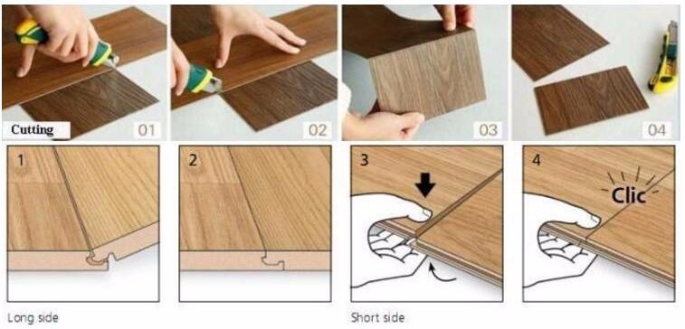 Lvt Waterproof Deck Wpc Flooring Tiles For Home Family