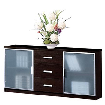 Custom Aluminum Handle Lateral Drawer Classic Low Office Books Storage Cabinet with Glass Door