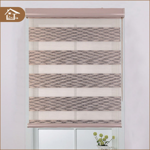 Made in china elegant double layer zebra blockout roller blinds