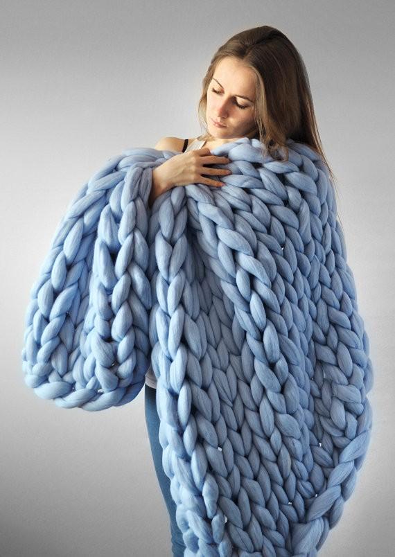 Hand Knitting Merino Wool Blanket : Kg ball giant chunky merino wool yarn for hand knitting
