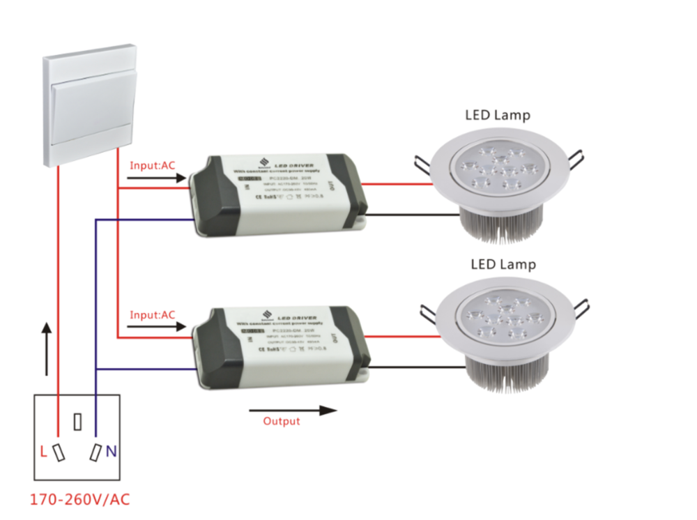 21w 300ma 4 Stage On / Off Dimmable Led Driver With Pc Cover For ...