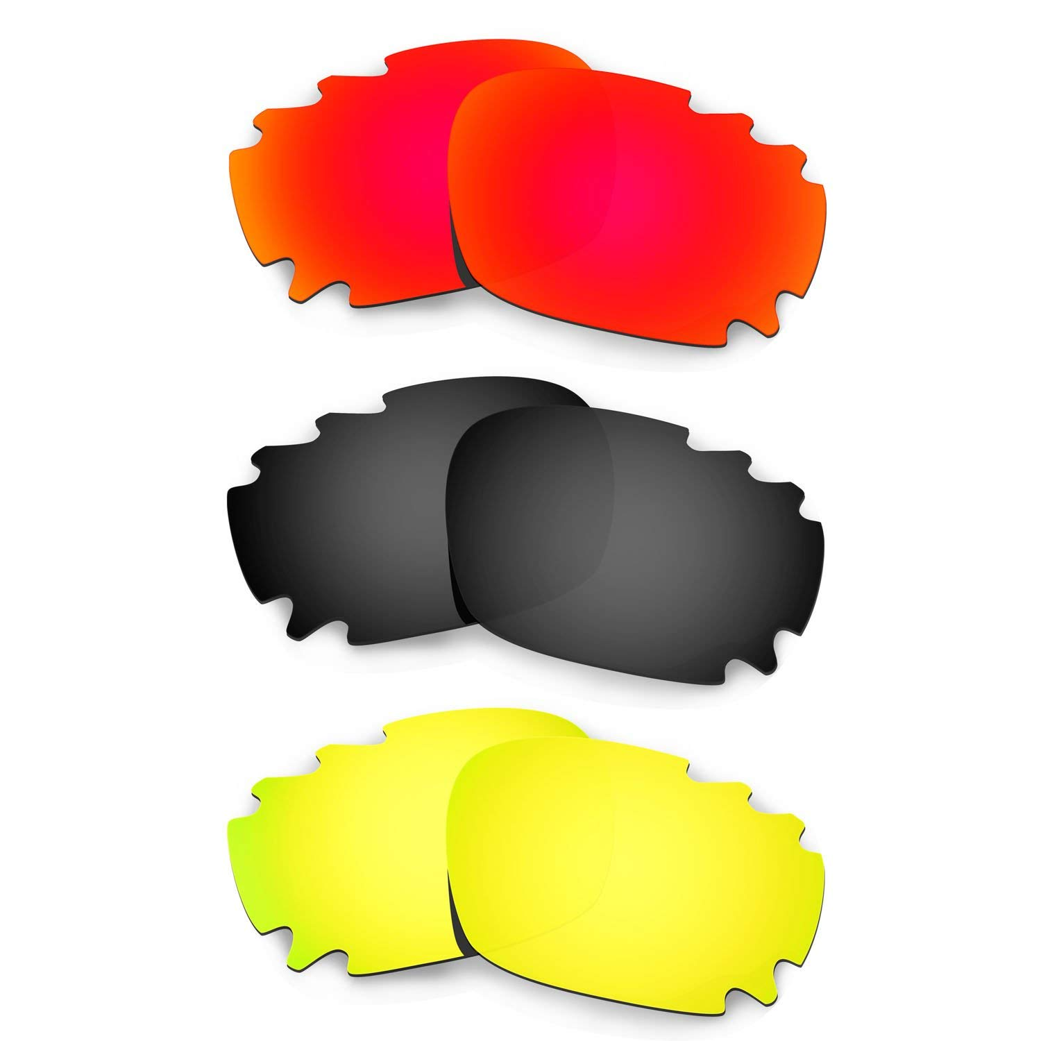 ad8f8b3e08bfd Get Quotations · Hkuco Plus Replacement Lenses For Oakley Jawbone Vented -  3 pair Combo Pack
