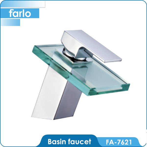FARLO Single Handle Brass Basin faucet led light
