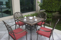 China Manufacturer Wholesale Outdoor Garden Furniture Cast Aluminum Outdoor Dining Table Set