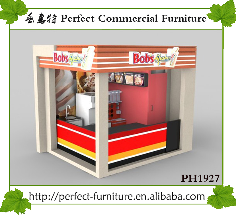 Coffee kiosk indoor cafe kiosk countertop gelato display for Indoor food kiosk design