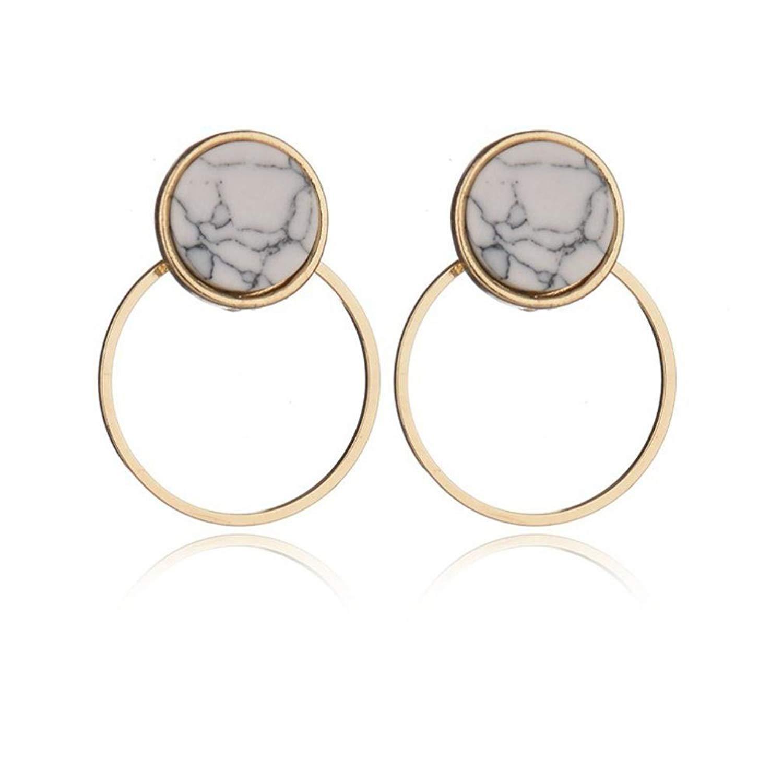 Gyoume Women Girls Dangle Earrings Sterling Silver Post Hoop Earrings for Women Jewelry Gift