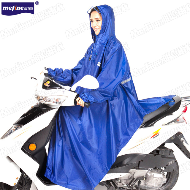 New arrival reflective stripe rain poncho for electric bike and motorcycles