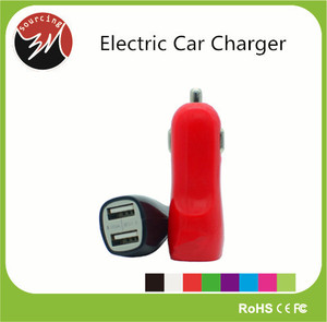 Wholesale Price 5v 3.1a Custom Mobile Charger for iphone 6 Electric Car Charger, for iphone 5 Car phone Charger