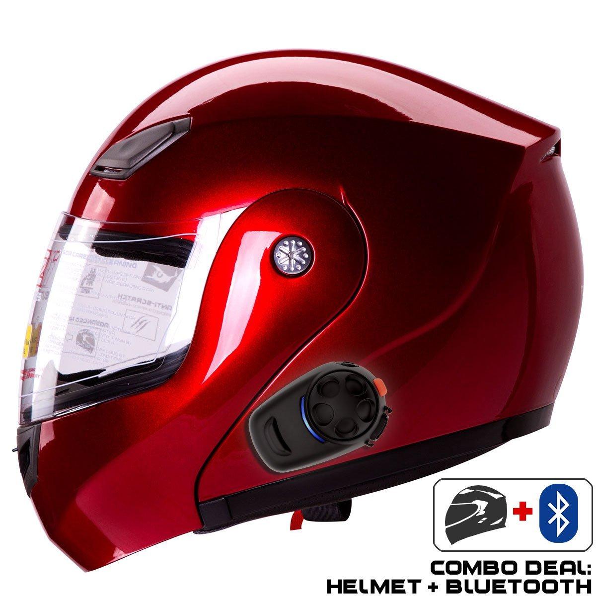 Buy Iv2 Helmet Bluetooth Combo Model 936 Modular Flip Up High