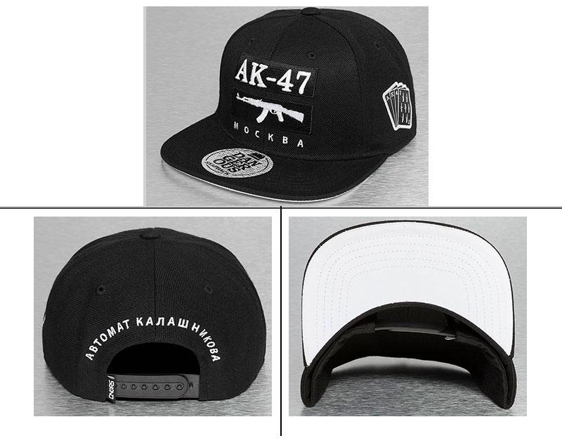 1376b3968af Guangjia Cap Manufacturer Wholesale Custom AK 47 Embroidered Logo Black  Snapback Hip Hop Hats