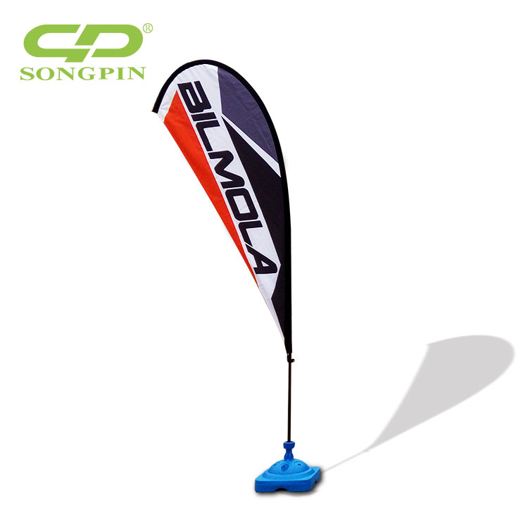 Polyester hanging Teardrop flag and banners usage advertising type