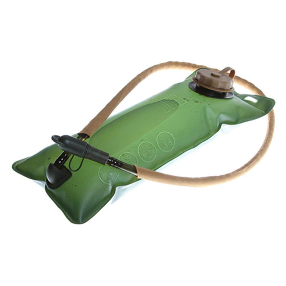 GQMART 2.5L Thickening Eva Hydration Water Bladder Bag For Sports Cycling Hiking Camping Climbing Bicycle Portable Army Green