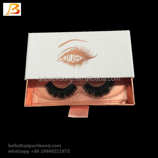 Wholesale Handmade Unique Design Paper Board Drawer 3D Mink Eyelash Empty Packaging <strong>Custom</strong>