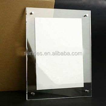 Clear Fancy Transparent Plastic Poster Frame With 4 Magnets In The ...