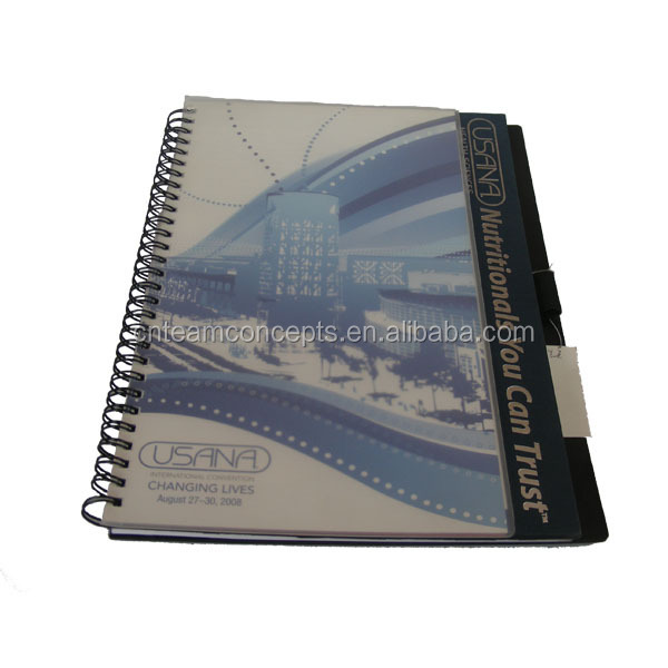 wholesale school notebook handmade cardboard cover spiral note book