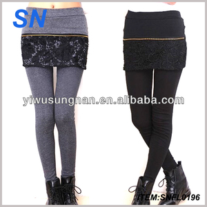 Wholesale Fashion Thick Girls Leggings With Skirt