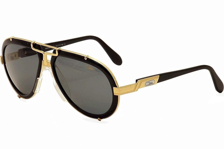 b618c75038e Get Quotations · Cazal 642-3-001 Black and Gold Sunglasses