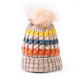 Wholesale color matching beanie women wool cute knit cap winter ski crochet hat
