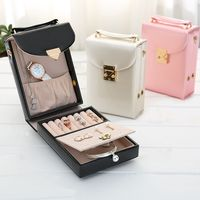 Portable Travel PU Leather Jewelry Box Case Gift Bag for Jewelry Packaging