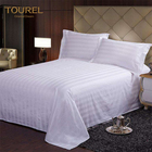 100% Cotton 3cm Satin Stripe Bed Sheet for hotel