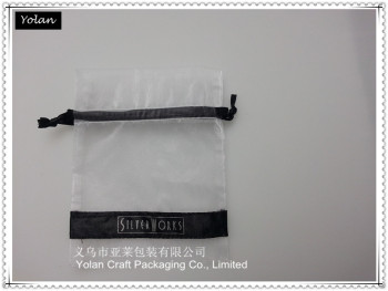 personalized organza bag with logo ribbon