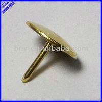 Quality gold brass flat head thumb tack,thumb pins,push pin