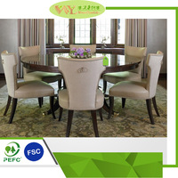 Round Dining Tables and Chair Set Wooden Kichen Dining Table and Chairs