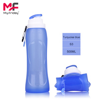 China manufacturer custom style sports foldable silicone 5 gallon water bottle