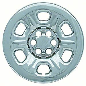 Set of 4 Chrome Wheel Skin Hub Covers With Center For 17x7 Inch 6 Lug Steel Rim - Part Number: IWCIMP/69X by IWC