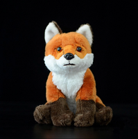 custom design 20cm cute red fox toy lifelike animal plush toy