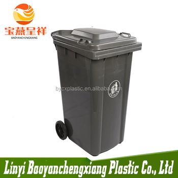 Norme europ enne ordures poubelle 120l en plastique grande for Grande poubelle exterieur
