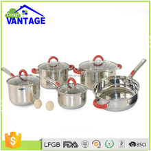 Different shape 555 stainless steel electric cooking stock pot well equipped kitchen cookware
