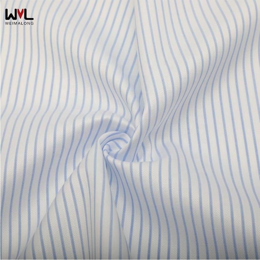 AMT1120  100% Cotton Stripe Twill Fabric Woven with Designer Woven Textile Fabric