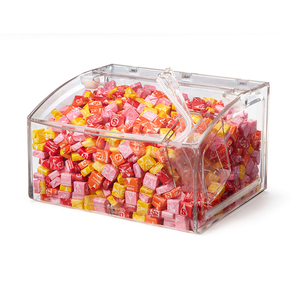 Supermarket Crystal Clear Candy Box,Plastic Candy Bin,Plastic Candy box