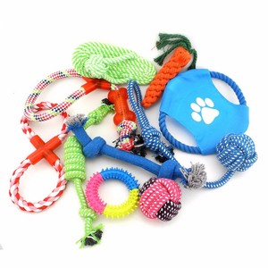 Custom Professional Cheap Durable Organzic Soft Zanies Rope Pet Dog Chew Activity Toys 10 Set Pack Wholesale