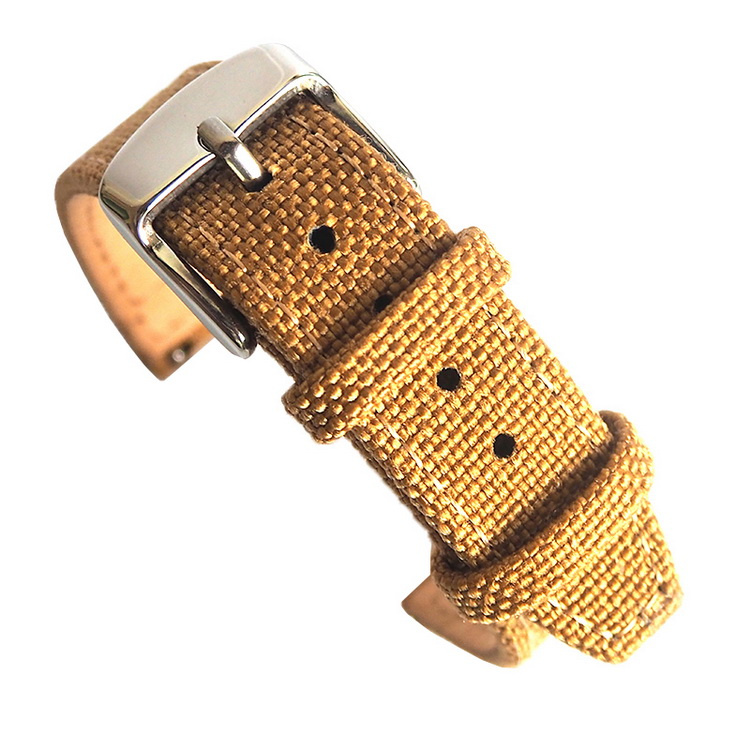 Custom Bulk 컬러 풀 한 변화 태양 광 21mm Nylon Watch Strap