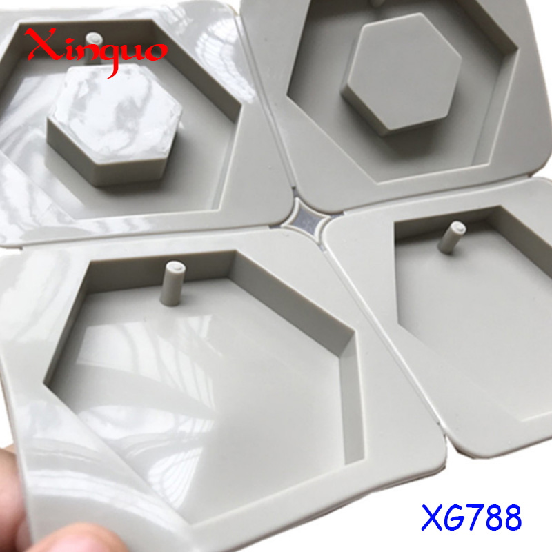788 factory stock 4 cavity sexangle shape, Gypsum aromatherapy tablet cake too. silicone candle molds