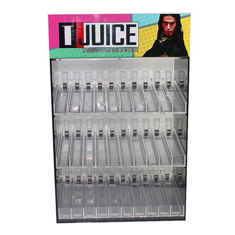 wholesale shop display boxes spring pushers clear liquid acrylic bottle display,tobacco fixtures for sale,tobacco racks for sale