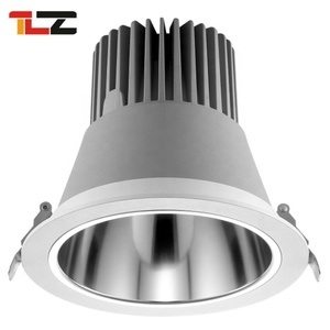 hotel Embedded cut out 220V-240V 170mm 35w Aluminum led cob downlight